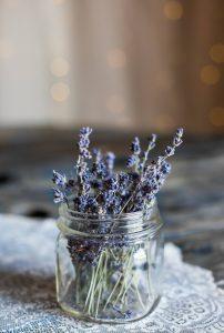vaso com alfazema