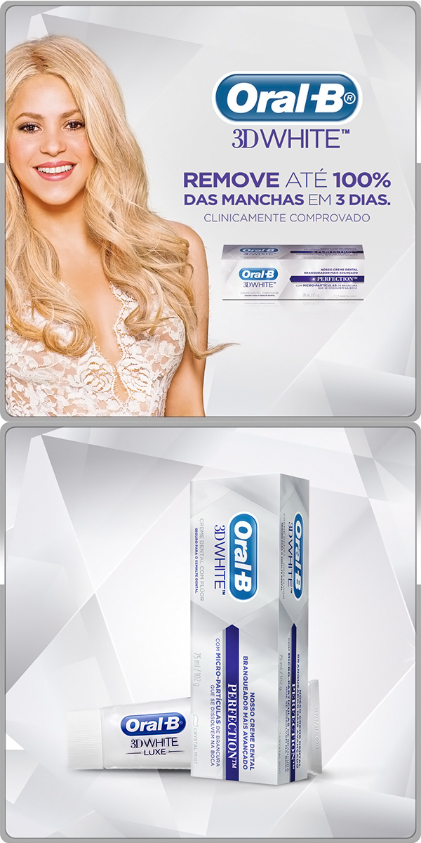 Creme Dental Oral B 3D White Perfection com 102g