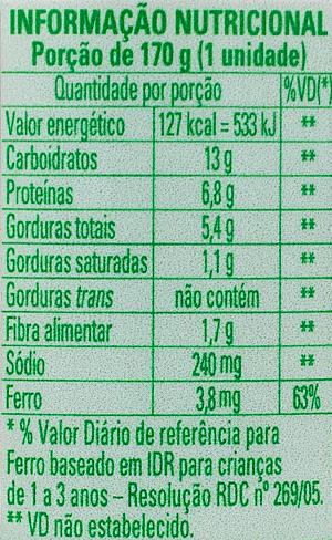 Papinha Nestlé de Picadinho de Carne com 170g