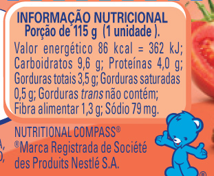 Papinha Nestlé de Carne, Legumes e Mandioquinha com 115g