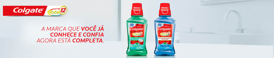 Enxaguante Bucal Colgate Total 12 Clean Mint Sem Álcool 250ml