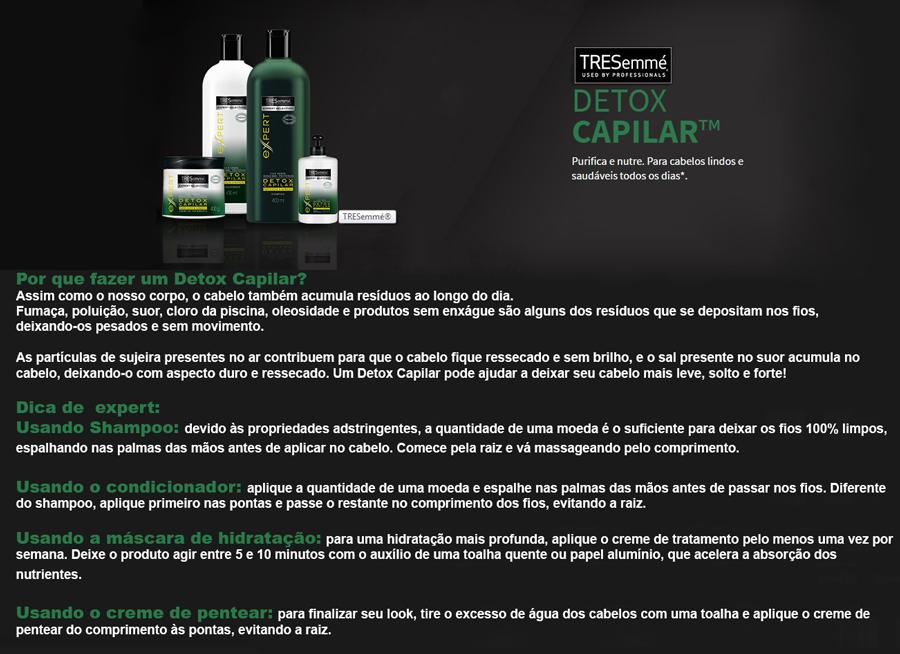 Shampoo TRESemmé Detox Capilar para Limpeza e Nutrição com 400ml