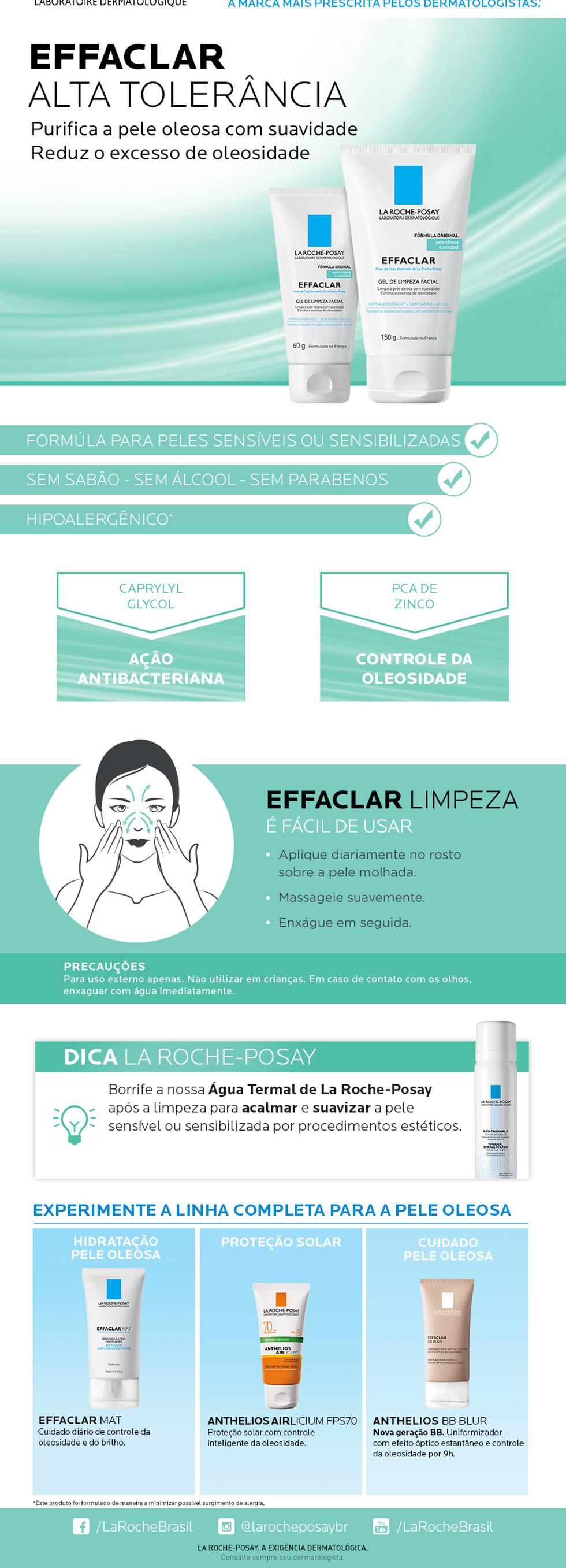 Gel de Limpeza Facial Effaclar Alta Tolerância La Roche-Posay