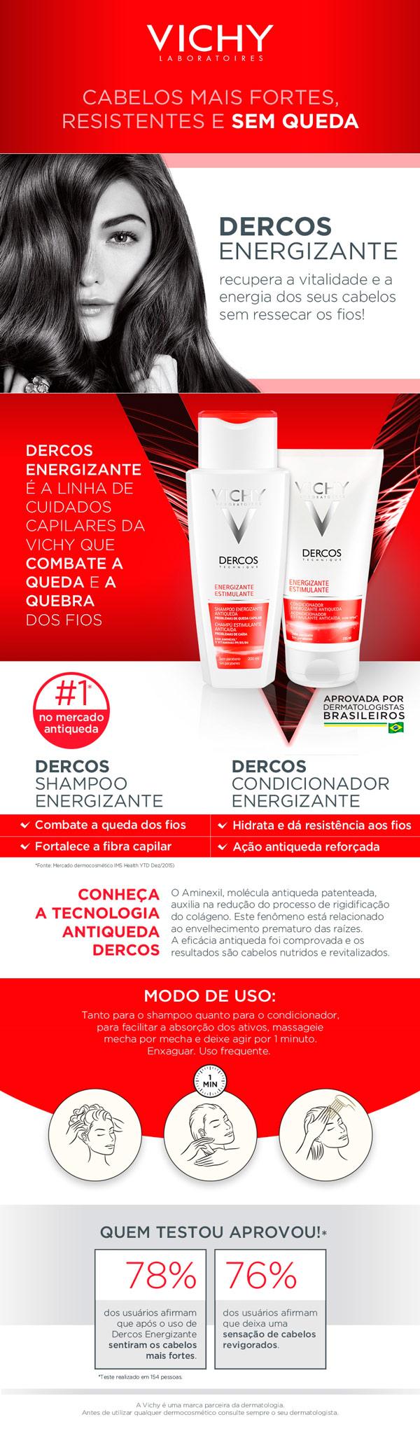Dercos Energizante Vichy Shampoo Energizante Antiqueda Leve 400ml Pague 300ml