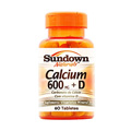 Calcium - 600mg E Vitamina D Com 60 Tabletes - Sundown Vitamina