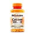 Calcium 500mg E Vitamina D3 C 120 Tabletes - Sundown Vitaminas