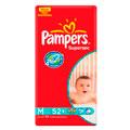 Fralda Pampers - Supersec Hiper M 52un