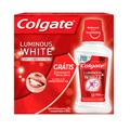 Creme Dental Colgate Luminous White E Oferta Com 3 Unidades Creme Dental De 90g Cada E Enxaguante Bucal Luminous White Com 250ml