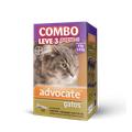 Advocate Gatos Combo - Para Gatos De 4kg Atã© 8kg -3 Pipetas Com 0,8ml Cada .