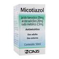 Benzóico - E Ácido Salicílico E Iodo Metálico - Micotiazol Solução Tópica Com 50 Ml