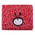 Toalha De Banho Bichinhos Com Capuz Bordado E Forro De Fralda 100 % Algodão Joaninha Vermelha Bambi