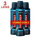 COMBO Com 3 Desodorantes Bozzano Aerosol Antitranspirante Fresh 90g