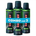 Combo com 3 desodorantes bozzano aerosol antitranspirante energy 90g